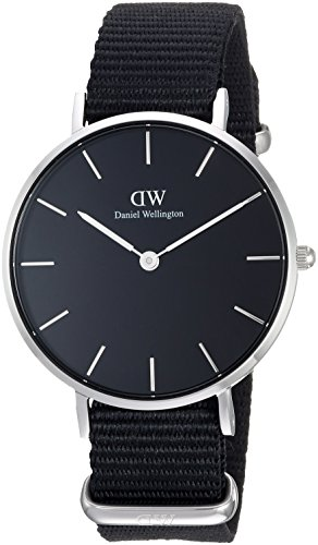 Daniel Wellington Unisex-Adult Analog Japanese-Quartz Watch with Nylon Strap DW00100216