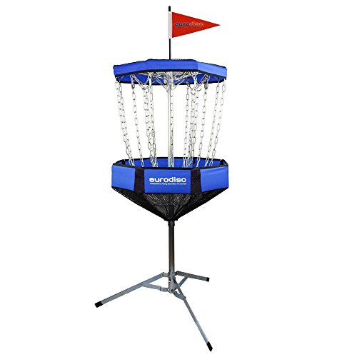 Eurodisc CHAINWALKER BLAU Disc Golf Korb ähnlich DGA Mach-Lite, inkl. 1x Putter -