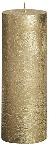 dawncandles.com Bolsius Dorado Metalizado Aroma Vela 190 x 68 Millimeter 65 Horas de combustión