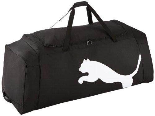 PUMA Tasche Team Wheel Bag Sporttasche, Black-White, 124 x 50 x 43 cm -