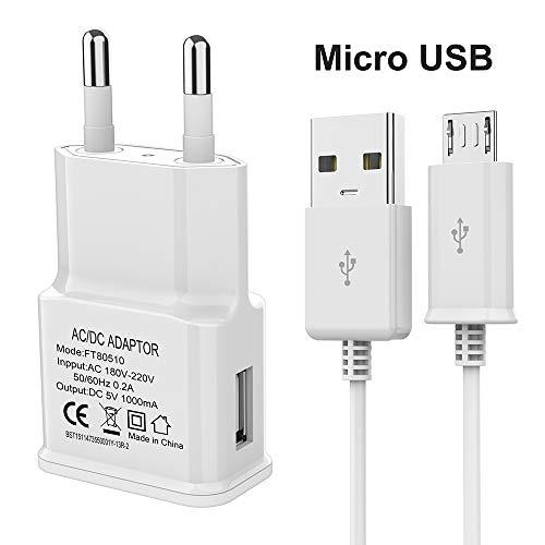 Luvfun USB-Hauptladegerät und Micro-USB-Kabel smart IC feuerfestes USB-Ladegerät und Android-Ladekabel(weiß)