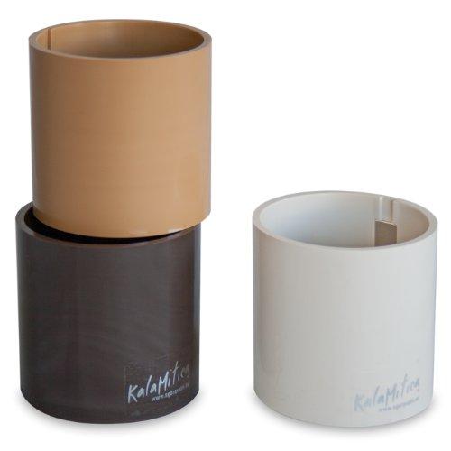 a magnetische Vase - Set mit 3 Zylinder, braun Theme, Ø 5,5 cm (Kunststoff-zylinder Vase)