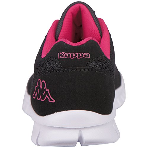Kappa Stay, Baskets Basses Femme Noir - Schwarz (1122 Black/Pink)