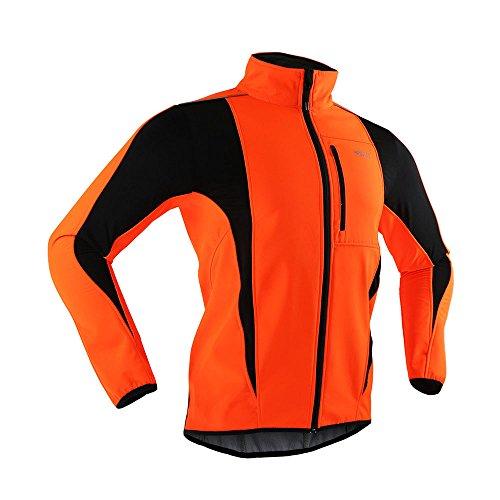 M.Baxter Autunno Maglione a Maniche Lunghe All'aperto Di Trattenere Il Calore Camicia Adeguatamente Fissato Sport Uomini arancione
