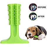 Bengvo Pet Dog Toothbrush Stick Bristly Brushing Stick Dog Tooth Clean Chew Toys Bite Resistant Puppy Effective Dental Care Doggy Natural Rubber (S)