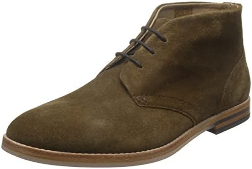 H by Hudson Hombre Houghton 3 Suede Shoes, Marrón