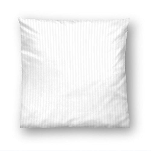 biberna 0065699/001/011 Kissenhüllen, Baumwollsatin, 40 x 40 cm, weiß (Reißverschluss Kissenbezug Satin)