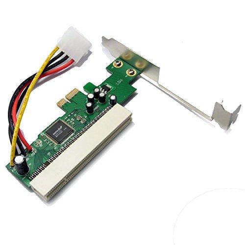 Sienoc Schnittstellenkarte PCI-Express (PCIe) zu PCI | Low Profile Format | Adapter / Adapterkarte | Netzwerk-/ ISDN-Karte / Grafikkarte / I/O-Contollerkarte / Videoschnittkarte