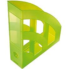 IDENA Magazine Rack Plastic A4 transluzent hellgrün