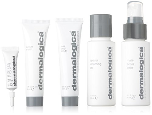 Dermalogica Skin Kit Normal/Oily Unisex, Special Cleansing Gel 50 ml, Prep Scrub 22 ml, Multi-Active Toner 50 ml, Active Moist 22 ml, Total Eye Care Spf 15 4 ml, 1er Pack (1 x 148 ml) - Scrub Prep Skin