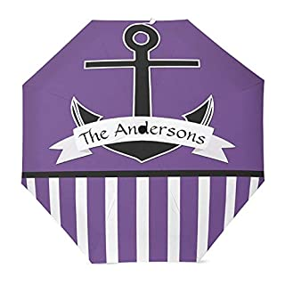 Muccumpurple The andersons anchorFast Drying Portable Compact Travel Umbrella Reinforced Windproof Frame Auto Slip-Proof Handle for Parasol Sun and Rain Umbrella