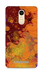 Amez designer printed 3d premium high quality back case cover for Xiaomi Redmi Note 3 (Abstract paint color spray)