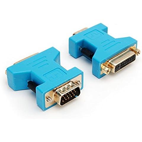 CPO - Adaptador de pantalla (de VGA macho a DVI hembra), color dorado