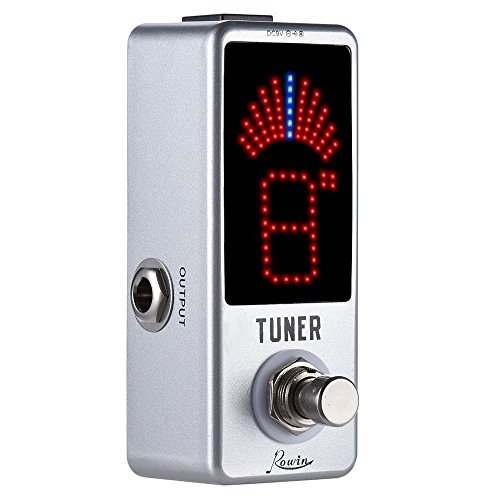 Rowin Tuner Guitar Pedal de Afinador Cromático de la Guitarra Eléctrica ± 0.1 Centavo True Bypass