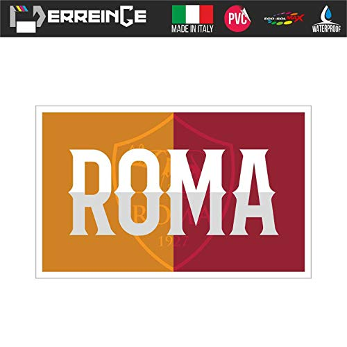 erreinge Sticker Roma Ultras Supporter Adesivo Sagomato in PVC per Decalcomania Parete Murale Auto Moto Casco Camper Laptop - cm 35