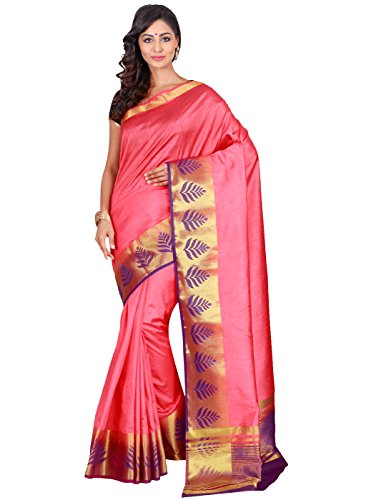 The Chennai Silks Rayon Saree With Blouse Piece (CCOPFS8453_Rose Of Sharon_Free Size)
