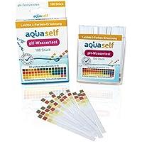 pH Wert Teststreifen (100 Stück); einfach, schnell und präzise in Flüssigkeiten pH Wert messen; großer Messbereich von 0 – 14 - inkl. gratis E-Book