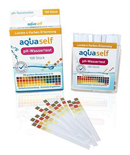 pH Wert Teststreifen (100 Stück); einfach, schnell und präzise in Flüssigkeiten pH Wert messen; großer Messbereich von 0 - 14 - inkl. gratis E-Book -