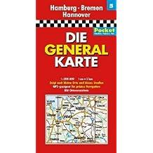 Die Generalkarte Pocket Hamburg, Bremen, Hannover 1:200 000