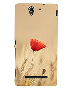 Lone and Beautiful 3D Hard Polycarbonate Designer Back Case Cover for Sony Xperia C3 Dual :: Sony Xperia C3 Dual D2502