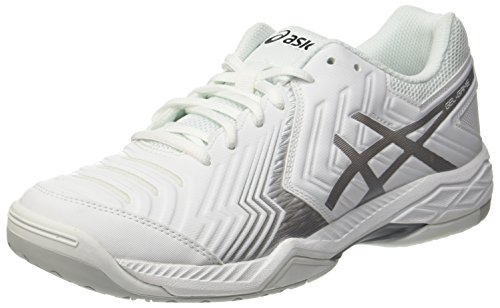 ASICS Gel-Game 6, Scarpe da Tennis Uomo, Bianco (White/Silver), 46 EU