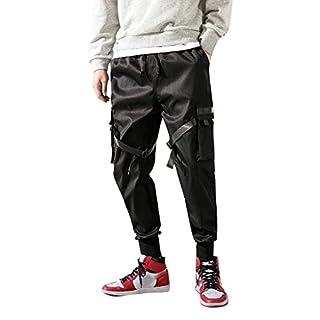 TWISFER Herren Haremshose Freizeithose Pluderhose Pumphose Yoga Hose Hip Hop Rap Hipster Stil Straight Leg Lang Hose Männer Einfarbige Jeans Hose Cargo