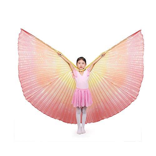 Dance Fairy Kinder Bauchtanz Isis Flügel ,Mehrfarbig (mit Stöcken)