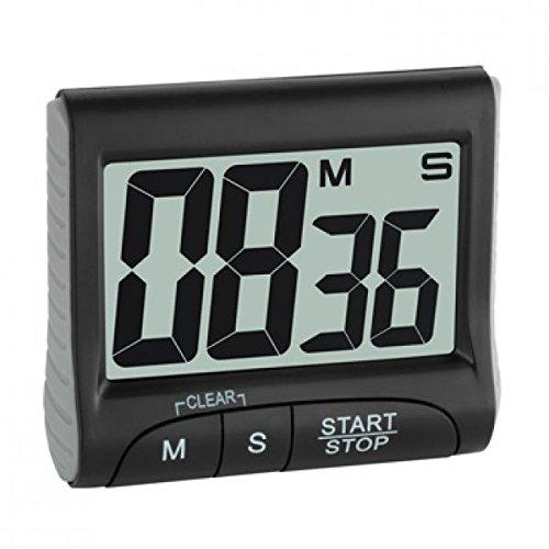 Preisvergleich Produktbild TFA dostmann 0 Elektronischer Timer mit Stoppuhr Tfa 38.2021.01 Schwarz, 0