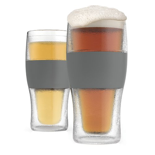 Host 3309 16 Ounce Freeze Cooling Beer Pint Glasses - Kunststoff Clear 19.558 x 2.54 x 18.41 cm Glas Beer Boot