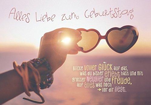DeCoArt...... 1 Geburtstagskarte Sonnenbrille Blicke Voller Glück auf Das, was Du bisher erlebt Hast und mit