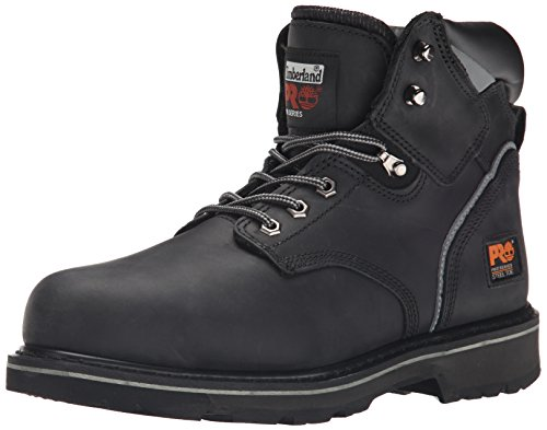 Timberland PRO Men's Pitboss 6 Steel-Toe Boot,Black,10.5 M Black Steel Toe Work Boot