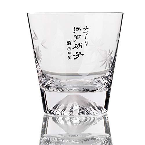 Tumblers Whiskyglas, Perfekt für Scotch, Bourbon und Old Fashioned Cocktails, Dauerhaft, Umweltfreundliche & bpa frei - wiederverwendbar, Fuji-Berg-Glas-B 300ml(10.6 oz) Old Fashioned Cocktail