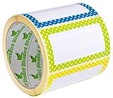 Punkt Namensschild Aufkleber 300 Bunte Randnamensschilder, Verschiedene Farben (3 Farben), Größe 90x50 mm
