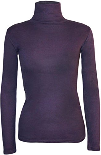 WearAll - Pull à manches longues et à col roulé - Hauts - Femmes - Tailles 36 à 42 Violet