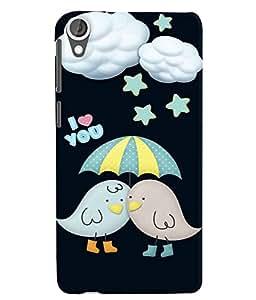 Citydreamz I Love You/Little Birds/Umbrella/Clouds/Stars/Valentine Hard Polycarbonate Designer Back Case Cover For HTC Desire 828