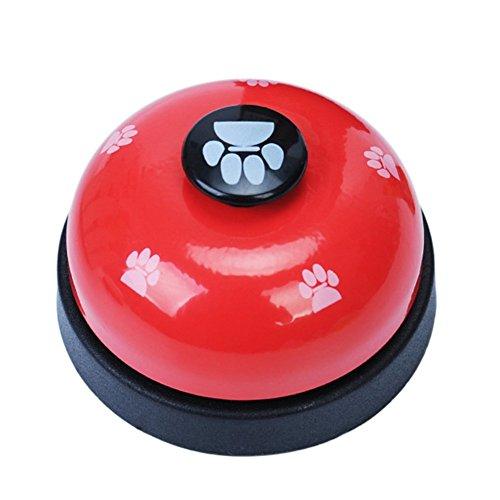 sgerste Pet Training Glöckchen Tischglocke Call Bell für Hunde Katze Töpfchen Training und Kommunikation Gerät Pet Interaktives toys-yellow (Bell Hund Töpfchen)