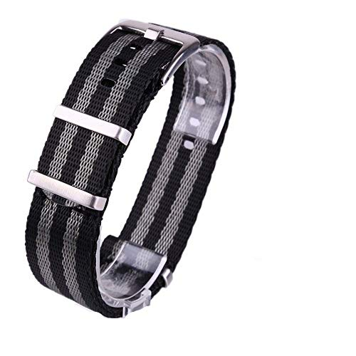 Genitalsit-Watchstrap-Lins1779 Großhandel Herren Armbanduhr Band Nylon Armband 20mm 22mm Ersatzuhr -