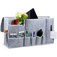 seguryy Bett Organizer Zum Aufhängen Storage Caddy Betttaschen 12 Taschen groß, Caddy Organizer Storage Kabine Etagenbetten Sofa – 57,9 x 30 x 8 cm (Grau)