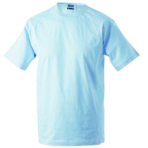 JAMES & NICHOLSON Komfort-T-Shirt aus strapazierfähigem Single-Jersey Light-Blue