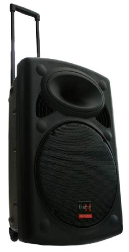 Mobile PA Sound Anlage Akku-MP3-USB-SD inkl. Funkmikrofone 900W Soundsystem E-Lektron EL38-M Bluetooth Mobile