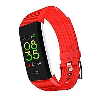 YMGR Reloj Deportivo, Reloj Inteligente Pulsera Inteligente con Pantalla De Color De Frecuencia Cardíaca Dinámica Contador De Pasos Bluetooth Pulsera Deportiva Multifunción Compatible con Sistema