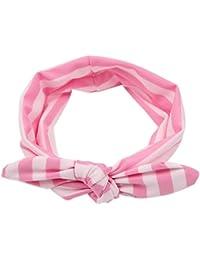 Sanwood pour bébé filles nœud papillon rayé bandeau bandeau bandeau