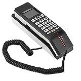 VBESTLIFE Wandtelefon,Schnurgebundes Telefon,Eingehende Anrufanzeige Festnetztelefon, Anrufaufzeichnungen Prüfen FSK/DTMF Zeiteinstellung(Schwarz)