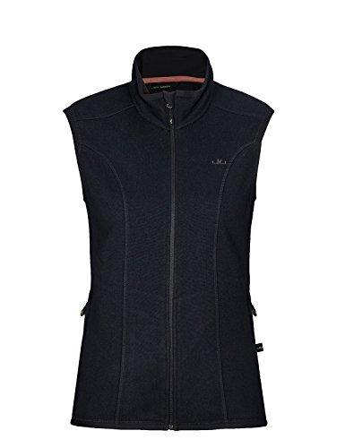 Jeff Green Damen Midlayer Schnelltrocknende Strick Fleece Weste Flora, Größe - Damen:40, Farbe:Black