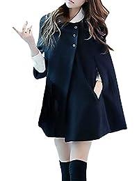 Otoño Invierno Mujer Elegante Batwing Capa Moda Parka Chaqueta Poncho  Casual Abrigos Coat Jacket Rebecas Pulóver 67f99e7c08f6