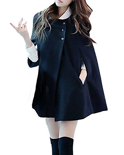 Damen Strickjacken Cardigan Fledermaus Batwing Wolle Ponchos Mantel Coat Outerwear Winter Capes Parka Jacke