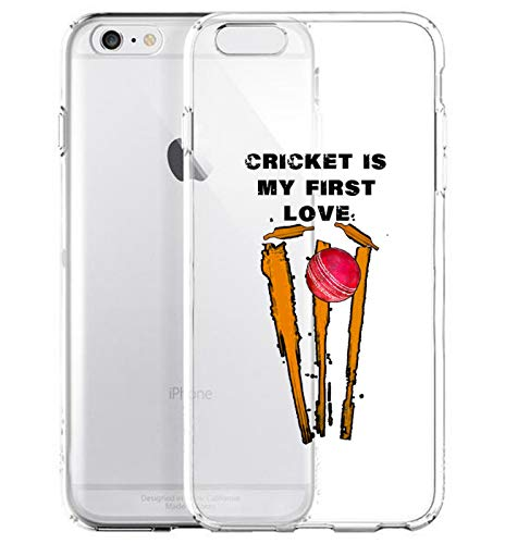GlamCase Schutzhülle für iPhone 6 Plus/iPhone 6S Plus, Motiv Cricket is My Life, transparent