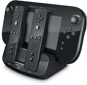 Speedlink Tridock Wii U Ladestation für WiiU-Controller und zwei Wiimote gleichzeitig (Akkus beiliegend) schwarz