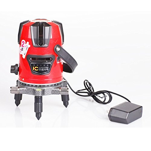 denshine Professional Laser-Wasserwaage automatisch Selbstnivellierender 8Line Cross Laser Line Innen-Außen Laser-Wasserwaage mit Stativ Rot (Self-leveling Cross)