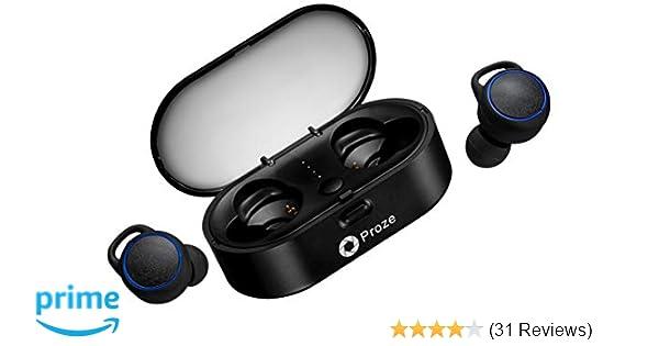 Proze TWS-02 True Wireless Earbuds Bluetooth 5 0 with: Amazon co uk